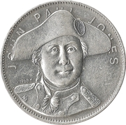 Token - Shell's Famous Facts and Faces Game (John Paul Jones) – obverse