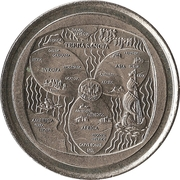 Token (Continents) – obverse