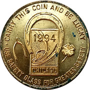 Token - Safety Glass (Chicago,  Illinois) – obverse