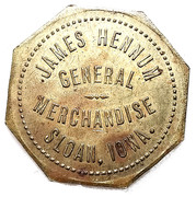 1 Dollar - James Hennum (Sloan, Iowa) – obverse