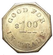 1 Dollar - James Hennum (Sloan, Iowa) – reverse