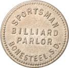 10 Cents - Sportsman Billiard Parlor (Bonesteel, South Dakota) – obverse