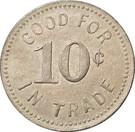 10 Cents - Sportsman Billiard Parlor (Bonesteel, South Dakota) – reverse