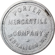25 Cents - Porter Mercantile Company (Bernalillo, New Mexico) – obverse