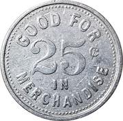 25 Cents - Porter Mercantile Company (Bernalillo, New Mexico) – reverse