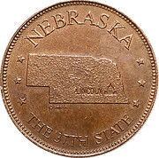 Token - Shell's States of the Union Coin Game, Version 1 - Bronze Collector's Coin Set (Nebraska) – obverse