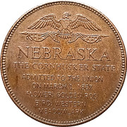 Token - Shell's States of the Union Coin Game, Version 1 - Bronze Collector's Coin Set (Nebraska) – reverse