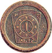 1 Penny - Masonic Token – obverse