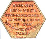 Token - Buignier (Paris) – reverse