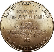 50 Cents - Perry Sesquicentennial Celebration (Erie, Pennsylvania) – reverse