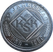 Medal - VKSK 30th Jubilee – obverse