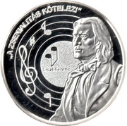 Token - Greats of our nation (Ferenc Liszt) – obverse