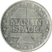Shell Oil Token - Man In Space (Mercury VI) – reverse