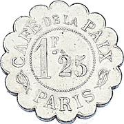 1.25 Francs - Café de la Paix (Paris) – reverse