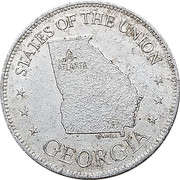 Token - Shell's States of the Union Coin Game, Version 1 (Georgia) – obverse
