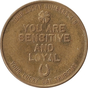 Token - Your Lucky Numbers (Pisces) – reverse