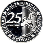 Token - 25 Countries of EU (Hungarian Academy of Sciences) – reverse
