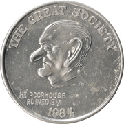 Token - Lyndon Johnson (The Great Society) – obverse