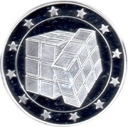 Token - 25 Countries (Rubik cube) – obverse