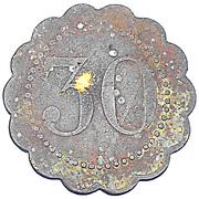 30 Centimes - Caisse Nationale d'Epargne Postale (Paris) – reverse