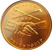 Token - Peace and Friendship (James Madison) – reverse