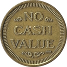 Token - No Cash Value (Clown; 20 mm; Long teeth around edge) – reverse
