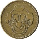 Token - No Cash Value (Clown; 20 mm; Long teeth around edge) – obverse