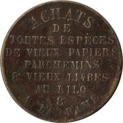 Token - Drouet Achats de vieux papiers (Paris) -  reverse