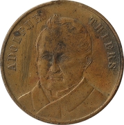 Token - Adolphe Thiers (anniversary of death) – obverse