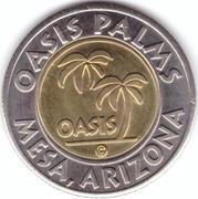 1 Dollar Car Wash Token - Oasis Palms (Mesa, Arizona) – obverse