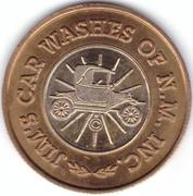 Carwash Token - Jim's Car Washes Of N.M. Inc. (Carlsbad, New Mexico) – obverse