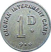 1 Penny - Onchan Internment Camp (POW Token Coinage; Isle of Man) – obverse