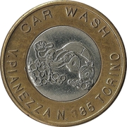 Car Wash Token (Le Vallette, Torino) – reverse