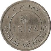1 Munt - Pavillon Valkenburg – reverse