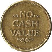 Token - No Cash Value (Clown; 20 mm; Short teeth around edge) – reverse