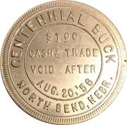 1 Dollar - North Bend, Nebraska (Centennial) – reverse