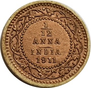1/12 Anna - Longmans Indian Token Coins – reverse