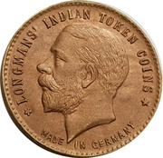 ½ Anna - Longmans Indian Token Coins – obverse