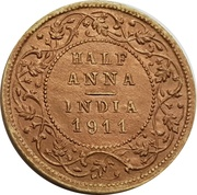 ½ Anna - Longmans Indian Token Coins – reverse