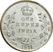 1 Rupee - Longmans Indian Token Coins – reverse