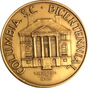 Token - Columbia, South Carolina Bicentennial – obverse