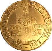 50 Cents - Oakland, Nebraska (Oakland Centennial) – obverse
