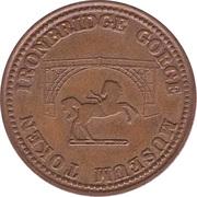 ½ Penny - Ironbridge Gorge Museum Token (convex image) – reverse