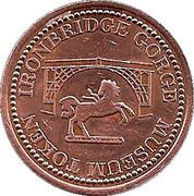 ½ Penny - Ironbridge Gorge Museum Token (flat image) – reverse