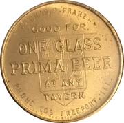 1 Glass Beer - Prima Brewing Company (Freeport, Il) – reverse