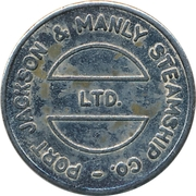 Ferry Token - Port Jackson & Manly Steamship Co. (22.4 mm) – obverse