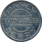 Ferry Token - Port Jackson & Manly Steamship Co. (22.4 mm) – reverse