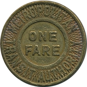 1 Fare - Metropolitan Transit Authority (Boston, Massachusetts) – obverse