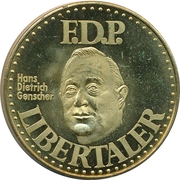 Libertaler - F.D.P. (Hans Dietrich Genscher) – obverse