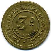 3 Pence - Portsea Island Mutual CSL – obverse